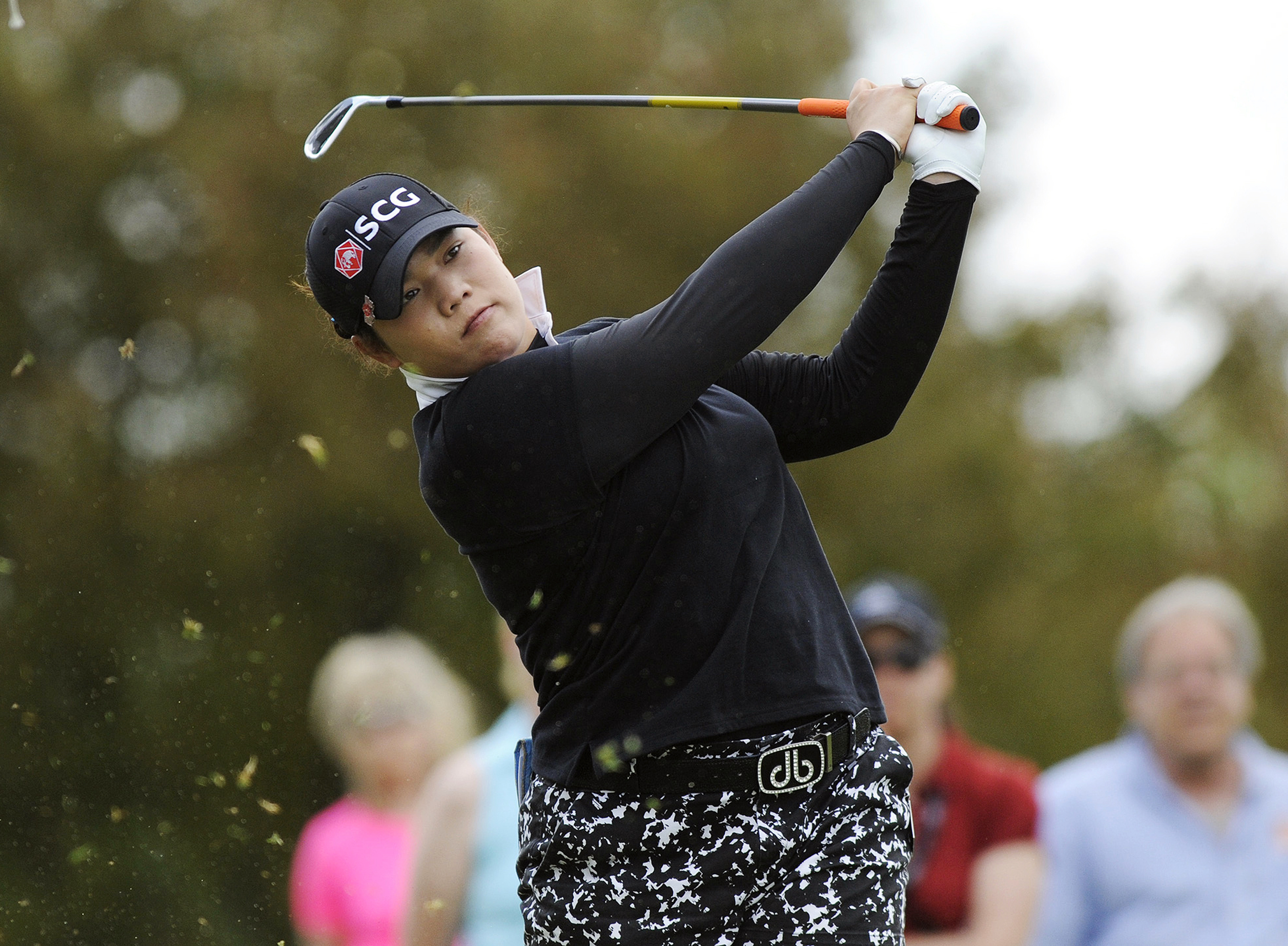 FILE - In this May 29, 2016, file photo, Ariya Jutanugarn, of Thailand, hits from the second tee during the final round of the LPGA Volvik Championship golf tournament at the Travis Pointe Country Club, in Ann Arbor, Mich. A day ahead of the start of the