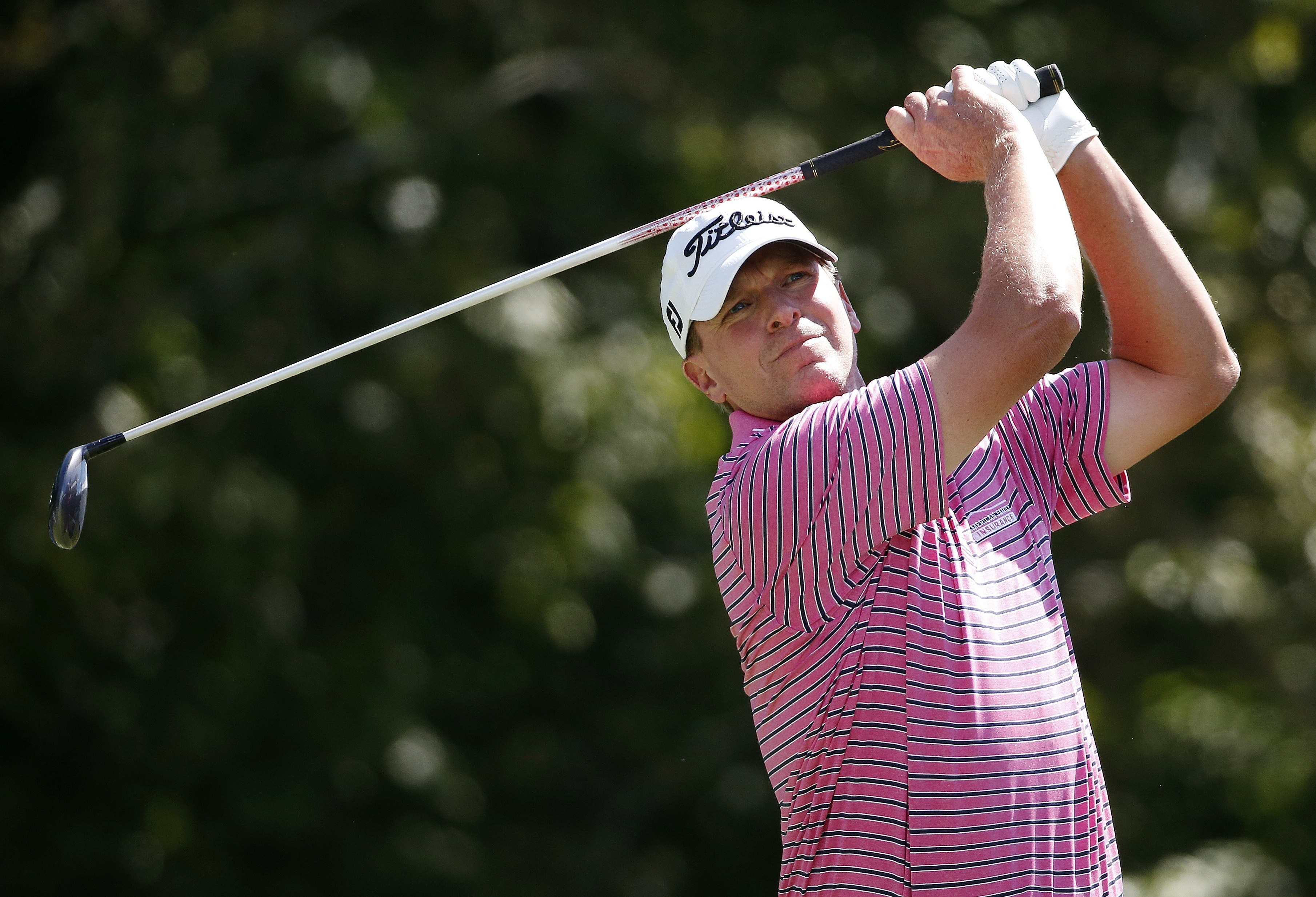 FILE - In this Sept. 2, 2016, file photo, Steve Stricker tees off on the 17th hole during the first round of the Deutsche Bank Championship golf tournament in Norton, Mass. Stricker always thought it was a long shot, and he recently was reminded that the