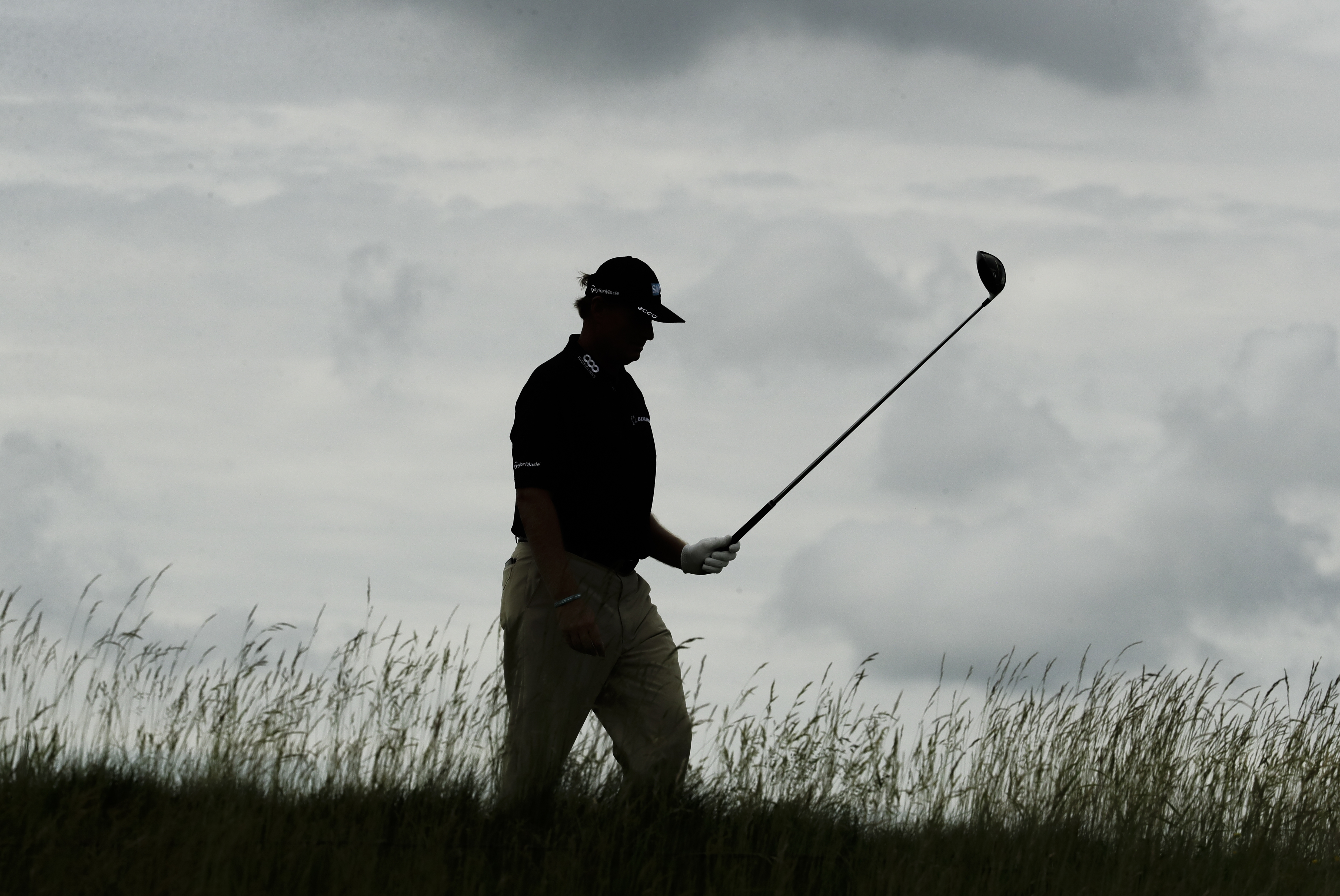 Ernie Els, of South Africa, walks on the 18th hole during the third round of the U.S. Open golf tournament Saturday, June 17, 2017, at Erin Hills in Erin, Wis. (AP Photo/A Charlie Riedel)