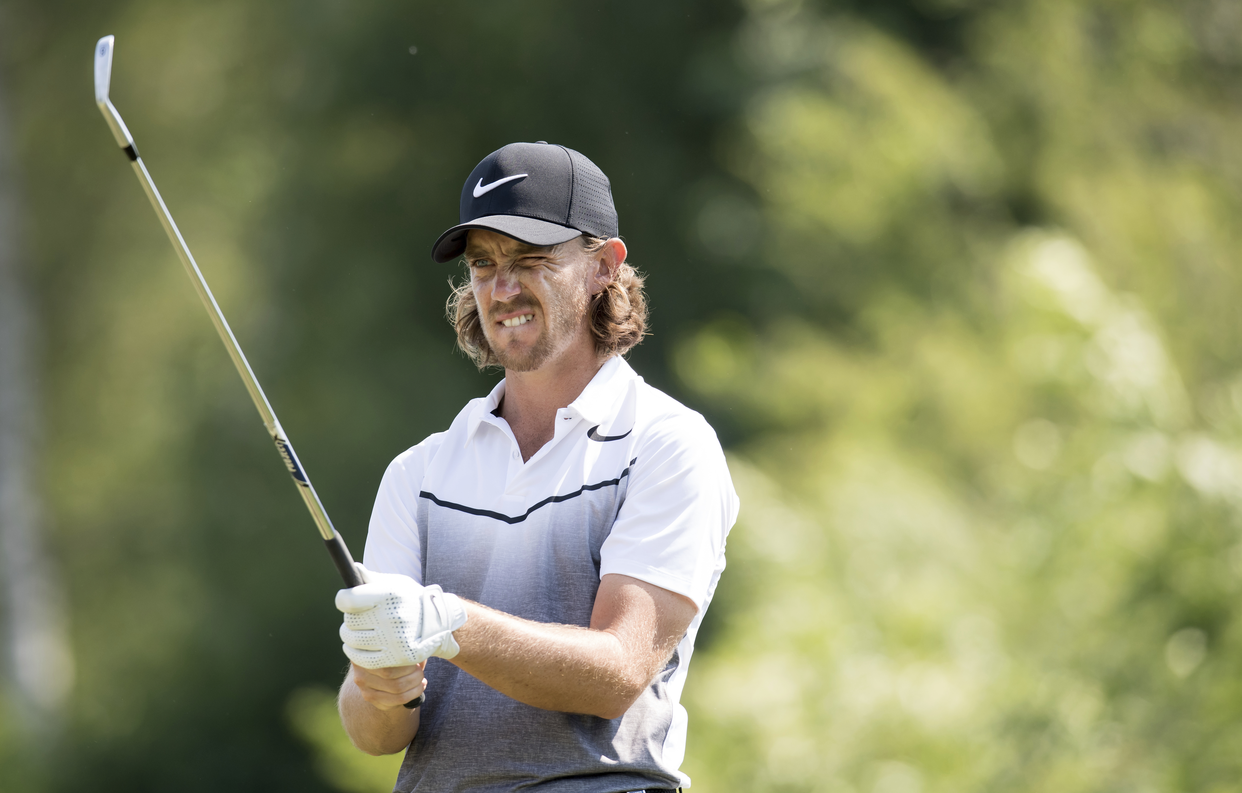 Britain's Tommy Fleetwood competes during the German Open golf tournament in Eichenried, near Munich, Germany, Thursday, June 22, 2017.  (Sven Hoppe/dpa via AP)