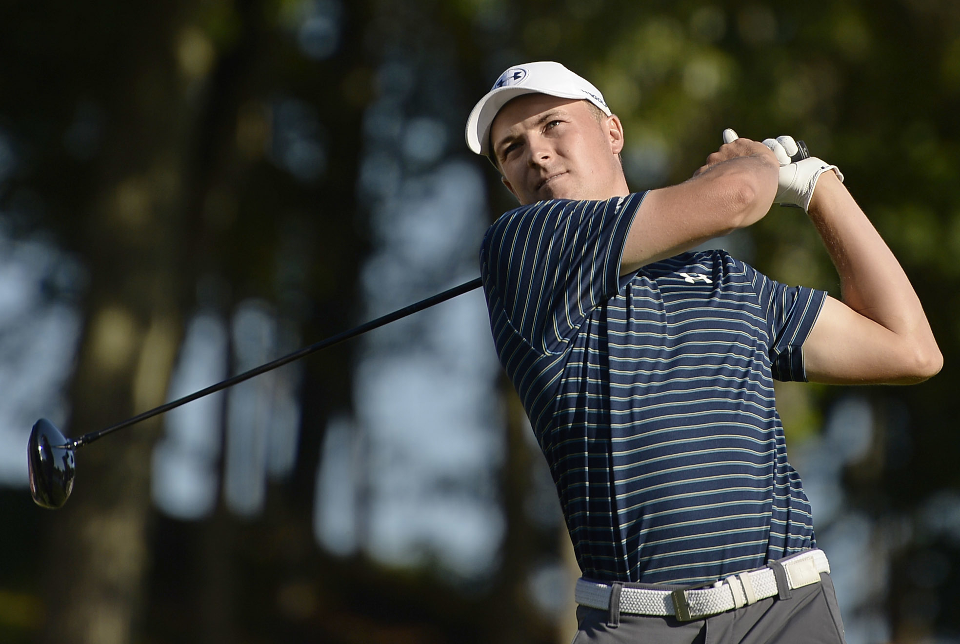 FILE - In a Sunday, June 25, 2017 file photo, Jordan Spieth hits off the 18th tee during a playoff in the final round of the Travelers Championship golf tournament, in Cromwell, Conn. Spieth says he wants to build a reputation for being a good closer in g