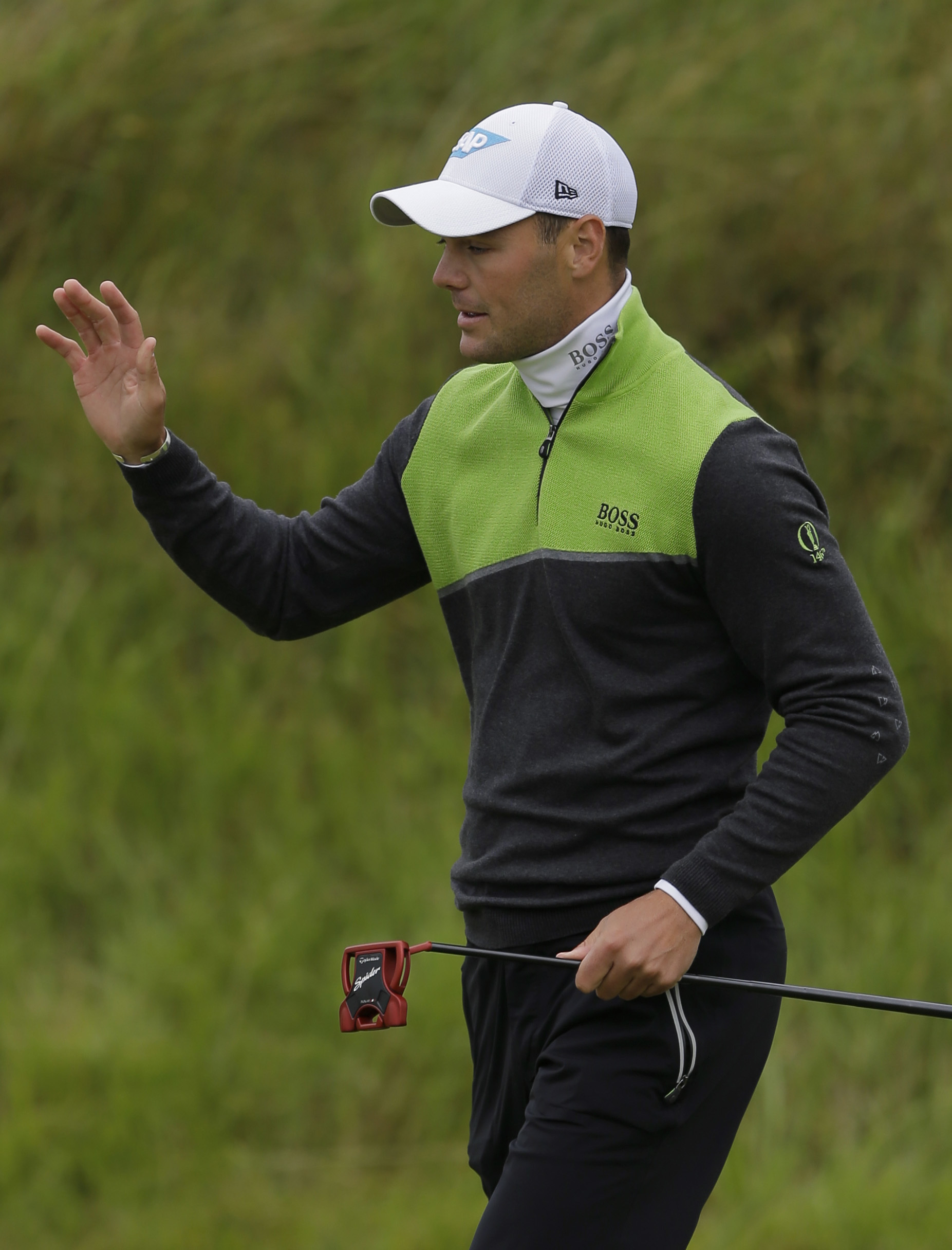 Martin Kaymer of Germany walks onto the 8th green during the second round of the British Open Golf Championship, at Royal Birkdale, Southport, England, FridayJuly 21, 2017. (AP Photo/Alastair Grant)