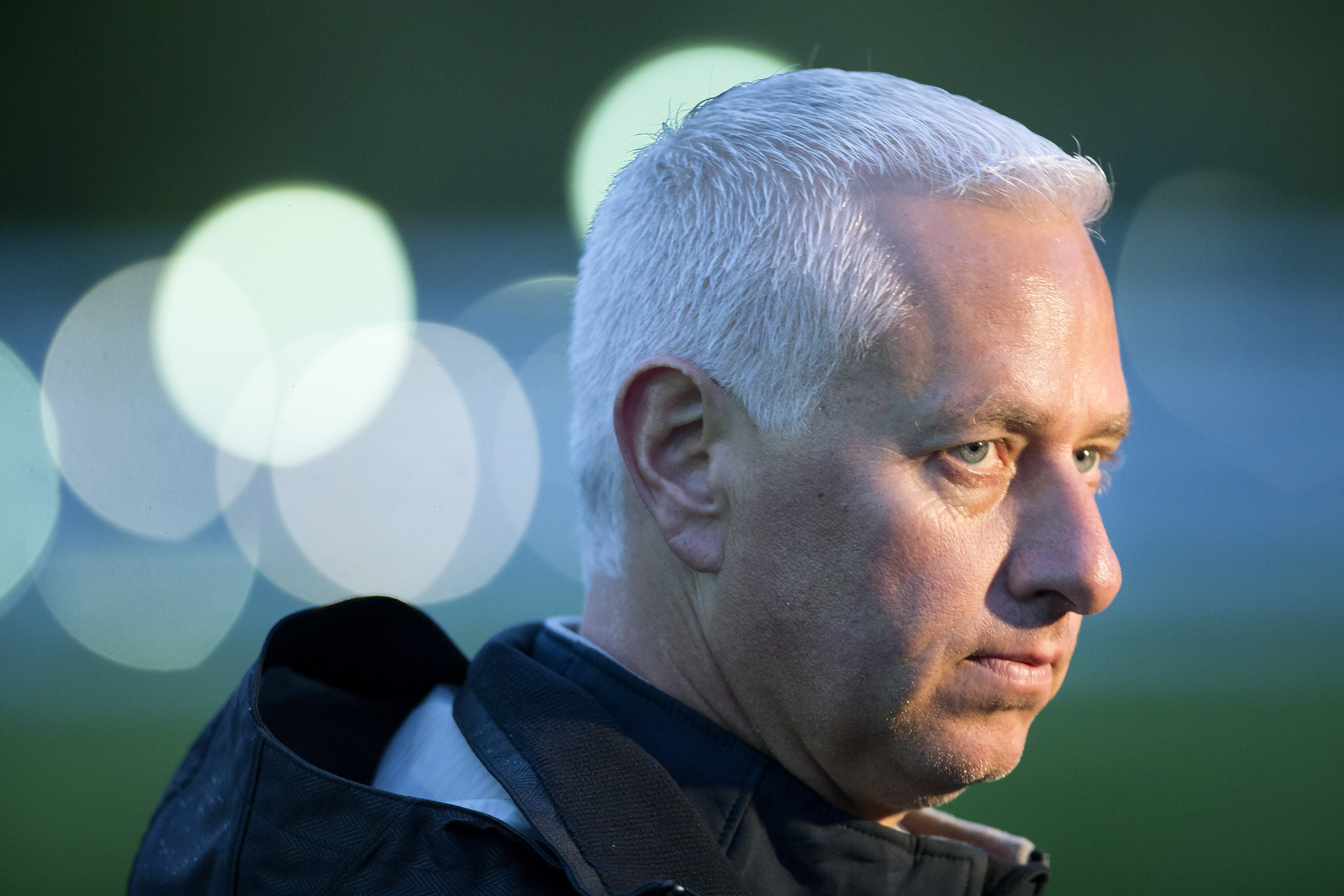 Trainer Todd Pletcher speaks to media after his Kentucky Derby contender Carpe Diem worked out at Keeneland in Lexington, Ky., Saturday, April 25, 2015. The 141st Kentucky Derby will be run on Saturday, May 2, 2015 at Churchill Downs. (AP Photo/David Step