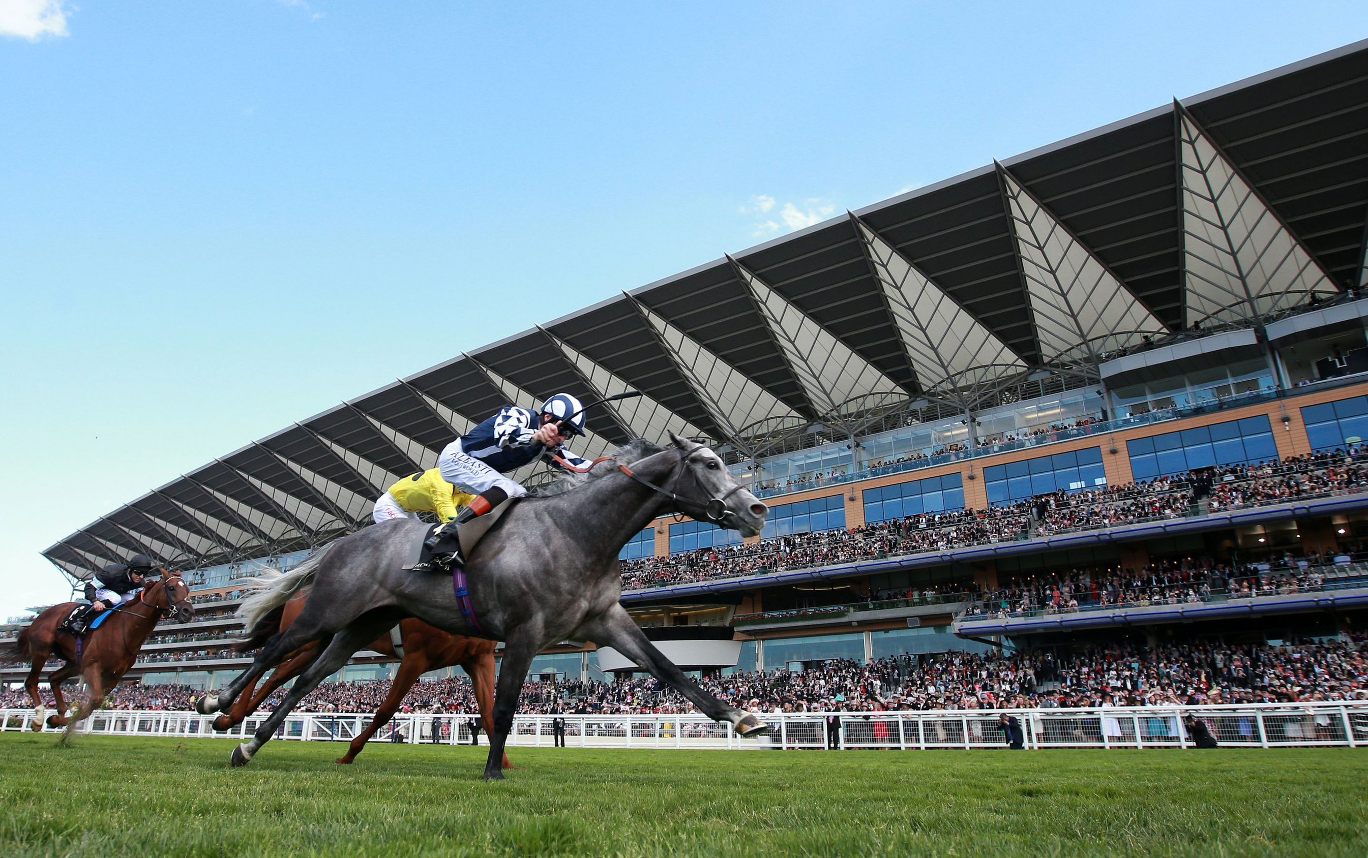 Arab Dawn ridden by Richard Hughes goes on to win the Duke Of Edinburgh Stakes during day four of the 2015 Royal Ascot meeting, Ascot, England, Friday, June 19, 2015. (David Davies/PA via AP) UNITED KINGDOM OUT, NO SALES, NO ARCHIVE