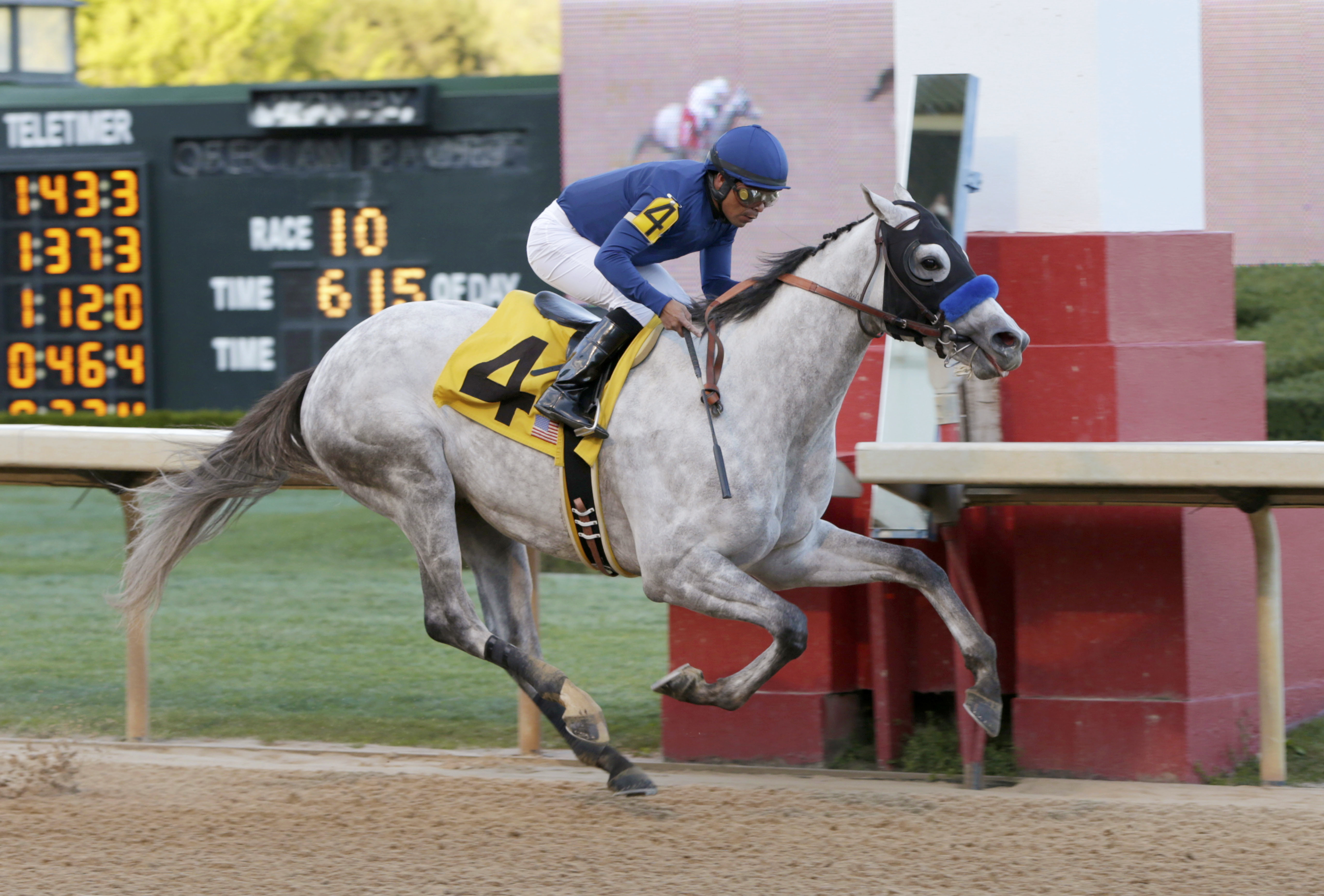 Cupid and jockey Martin Garcia win the Rebel Stakes horse race at Oaklawn Park in Hot Springs, Ark., Saturday, March 19, 2016. (AP Photo/Danny Johnston)