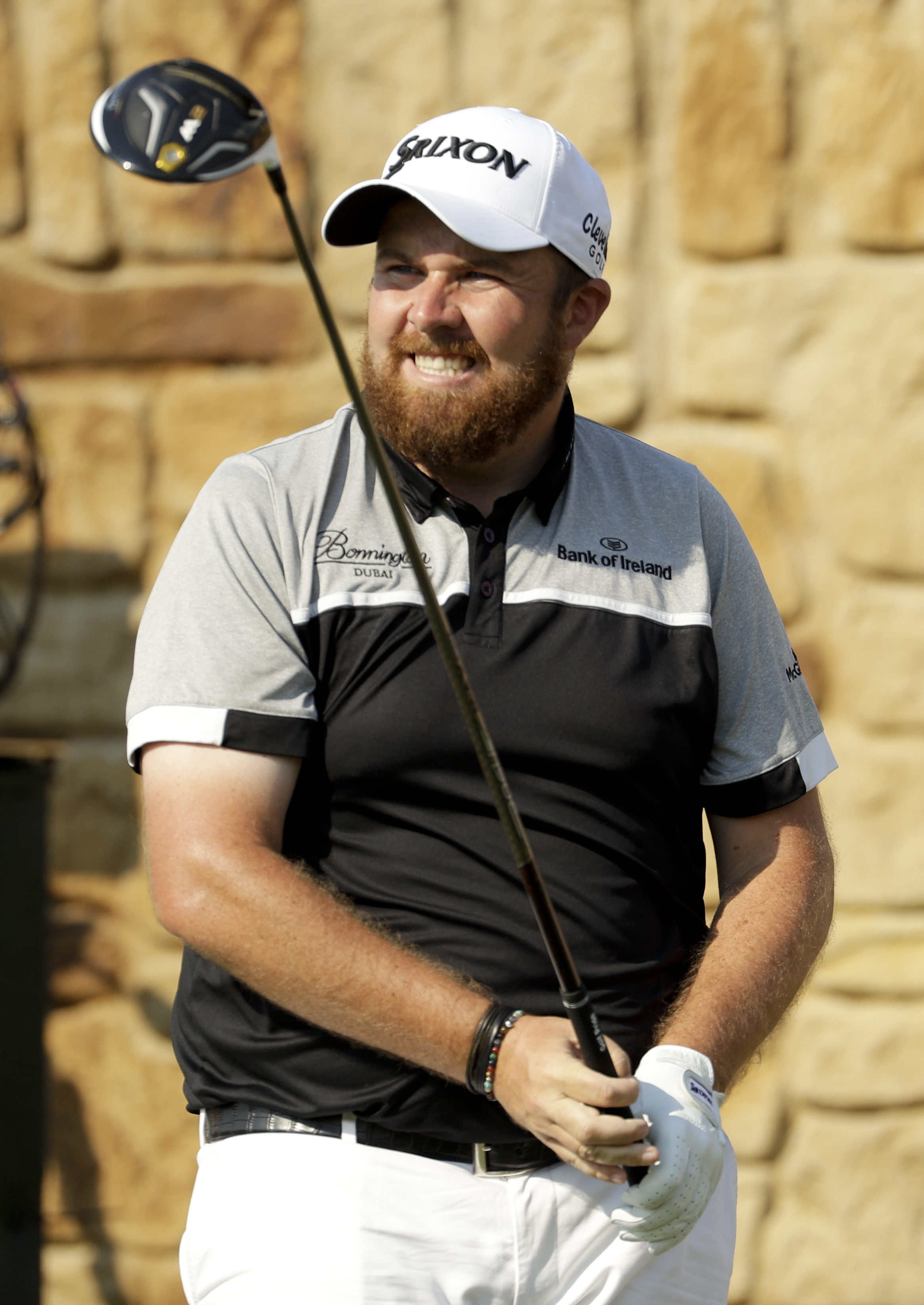 Shane Lowry, of the Republic of Ireland, watches his tee shot on the ninth hole during the final round of the U.S. Open golf championship at Oakmont Country Club on Sunday, June 19, 2016, in Oakmont, Pa. (AP Photo/Charlie Riedel)