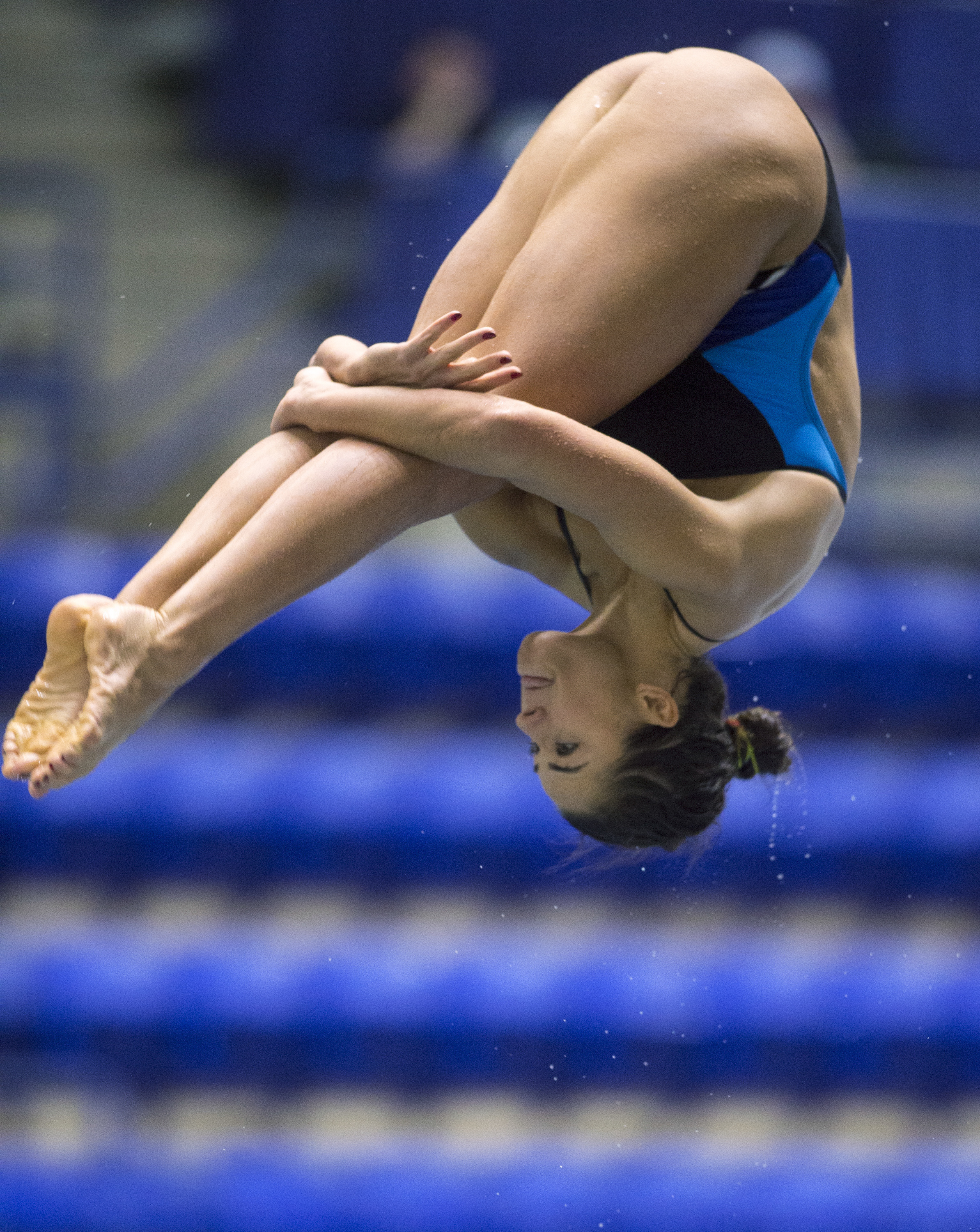 FILE - In this Dec. 20, 2015, file photo, Kassidy Cook competes during the USA Diving Winter National Championship's women's 3-meter finals in Indianapolis. Four years after her synchro 3-meter team had just missed out on making the American team, Cook is