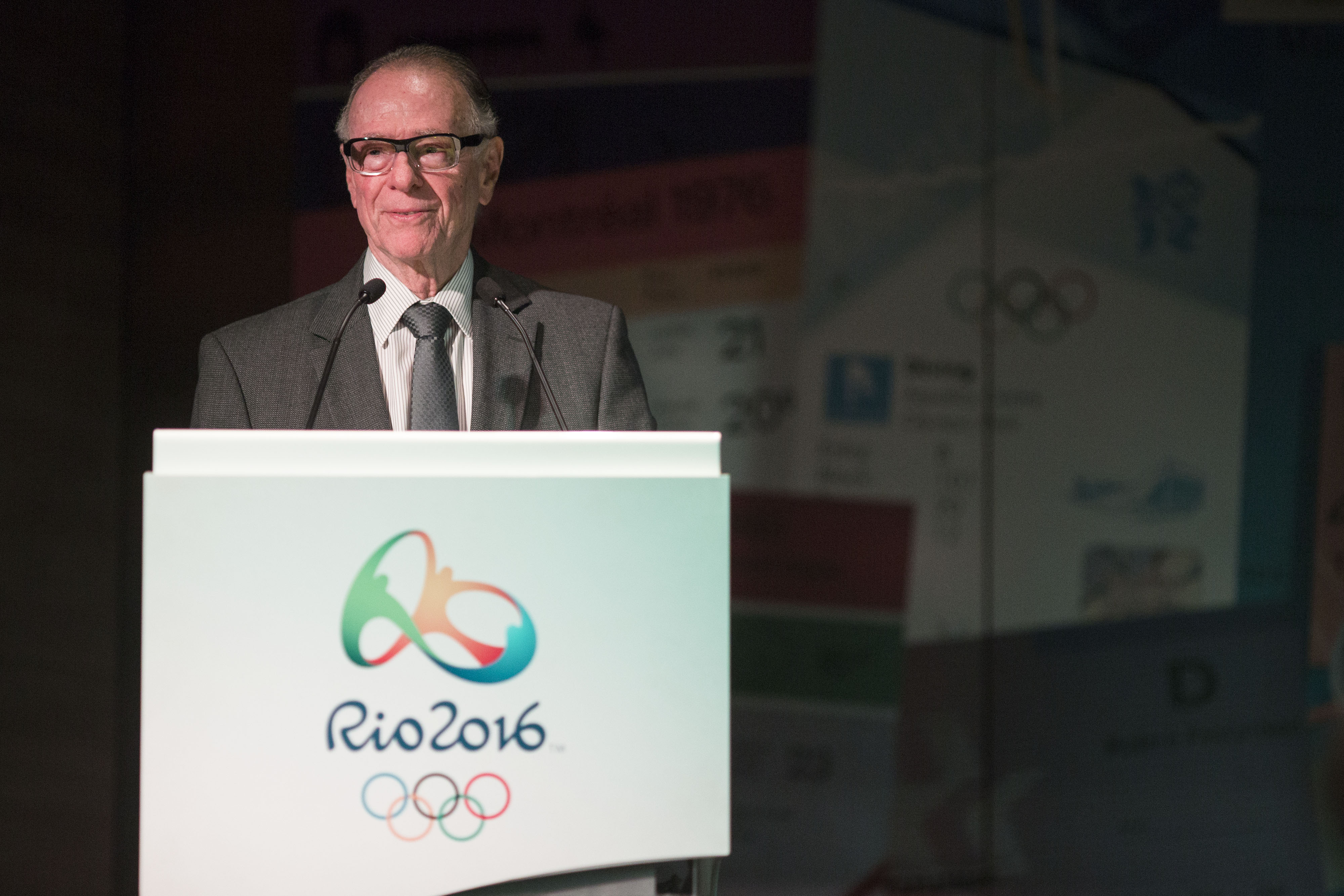 Brazil Olympic Committee President Carlos Arthur Nuzman gives a news conference to unveil the Olympic ticket design at Rio 2016 headquarters in Rio de Janeiro, Brazil, Friday, May 20, 2016. Rio Olympic organizers said 67 percent of tickets now available w
