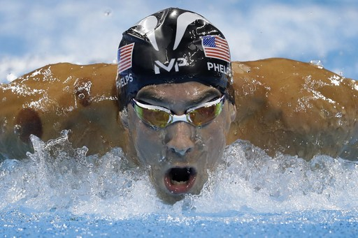 United States' Michael Phelps competes in a men's 200-meter butterfly semifinal during the swimming competitions at the 2016 Summer Olympics, Monday, Aug. 8, 2016, in Rio de Janeiro, Brazil. (AP Photo/Michael Sohn)
