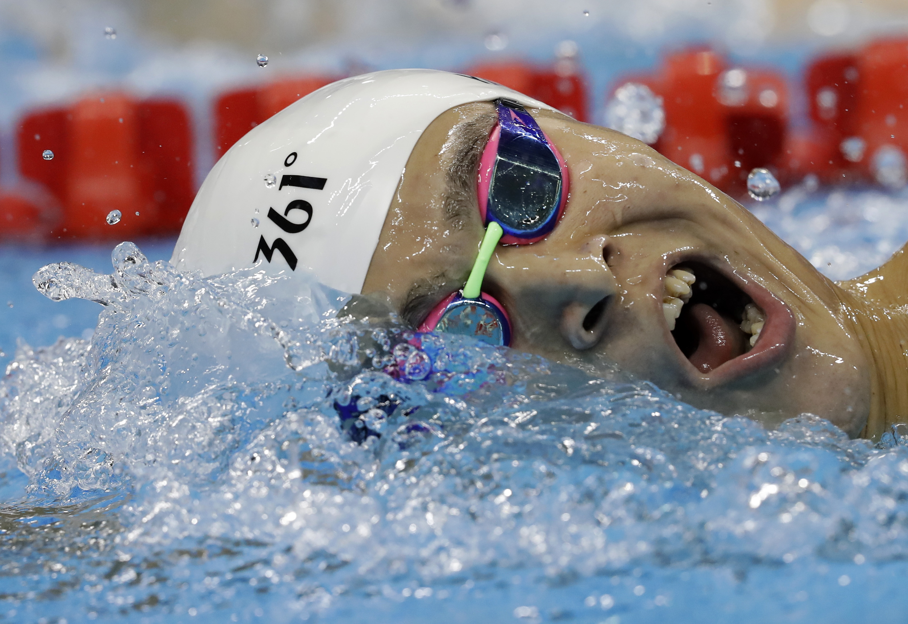 China's Sun Yang competes during a men's 1500-meter freestyle heat during the swimming competitions at the 2016 Summer Olympics, Friday, Aug. 12, 2016, in Rio de Janeiro, Brazil. (AP Photo/Michael Sohn)