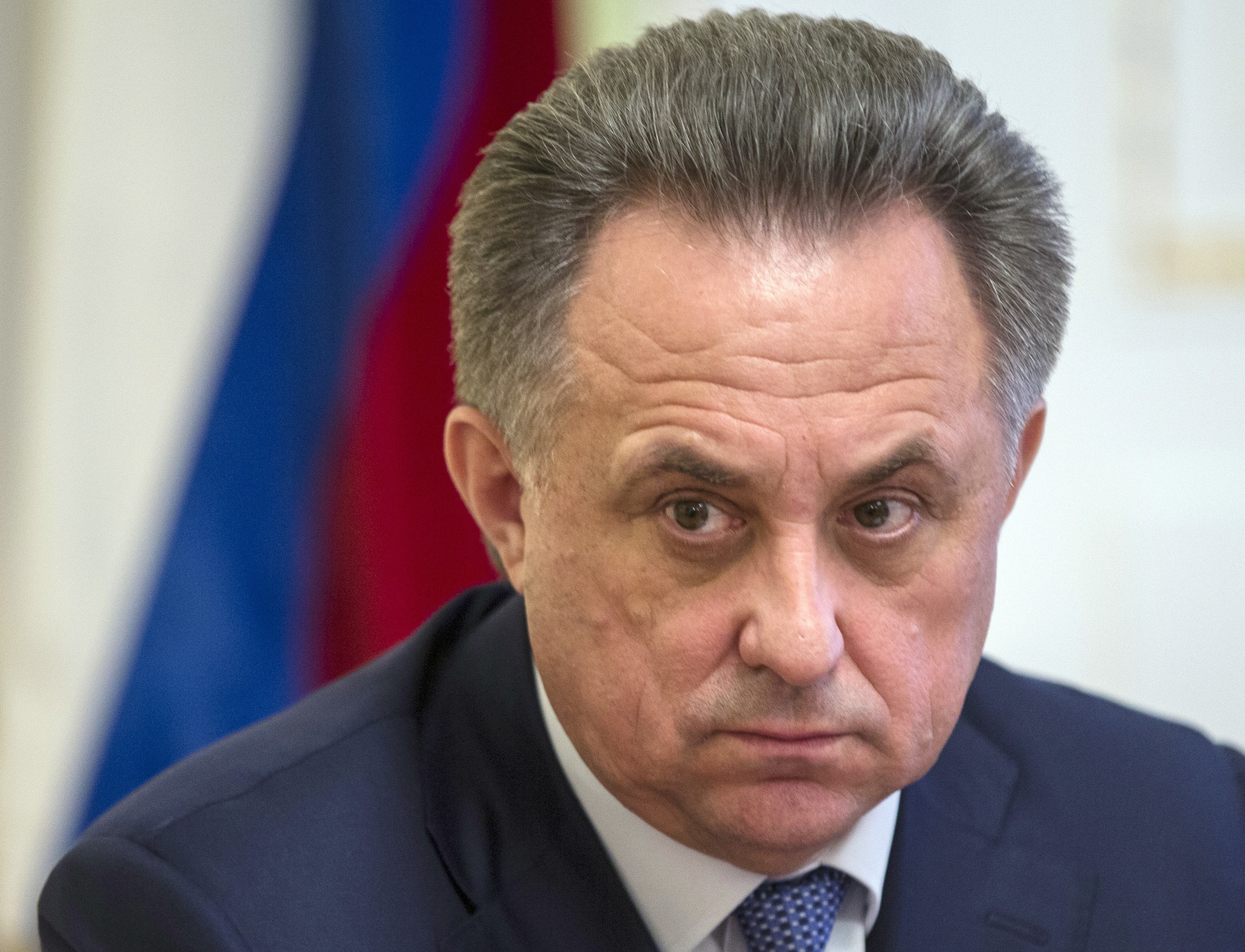 FILE - In this Wednesday, Dec. 23, 2015 file photo, the then Russian Sports Minister Vitaly Mutko holds a news conference in Moscow, Russia. Russian Deputy Prime Minister Vitaly Mutko said Saturday Dec. 10, 2016, the country will accept an International O