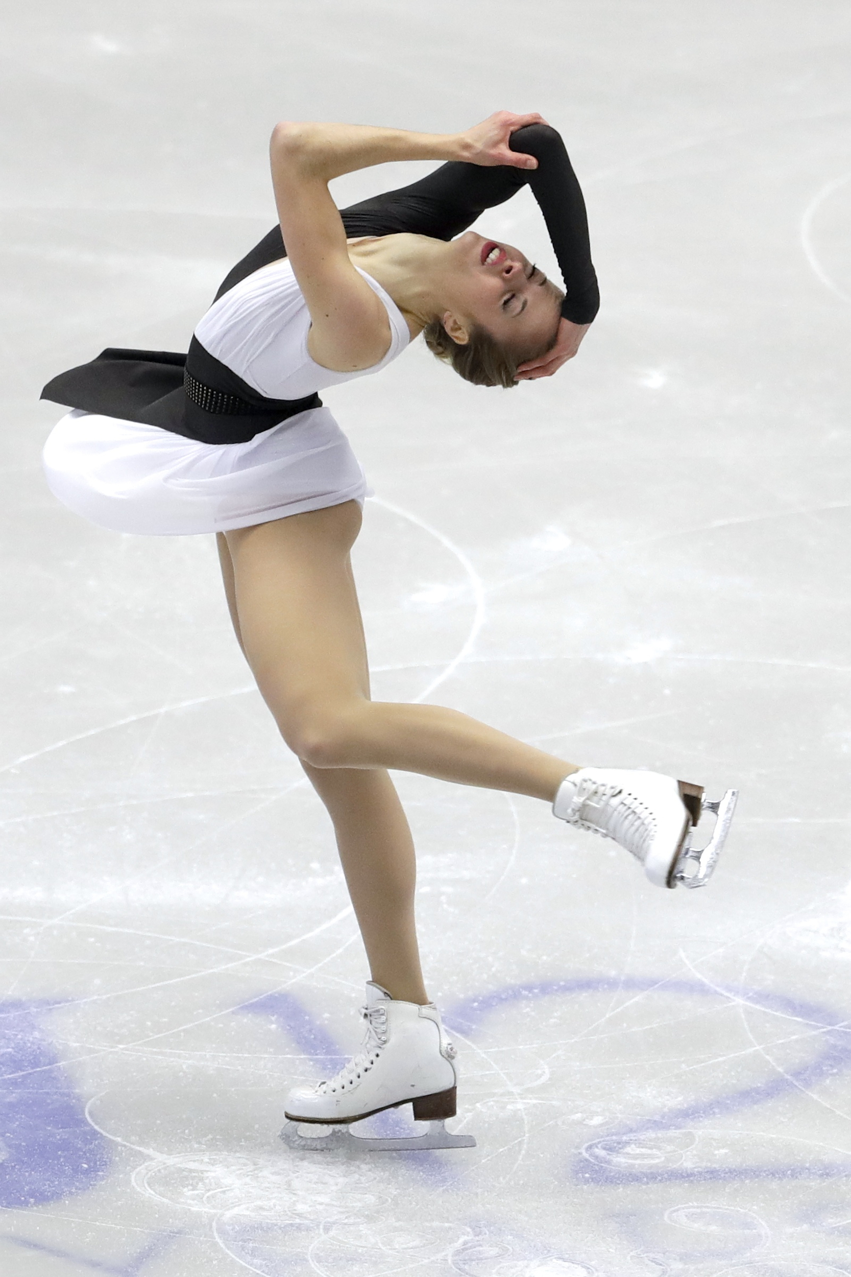 Carolina Kostner, of Italy, skates her short program at the Figure Skating European Championships in Ostrava, Czech Republic, on Wednesday, Jan. 25, 2017. (AP Photo/Petr David Josek)
