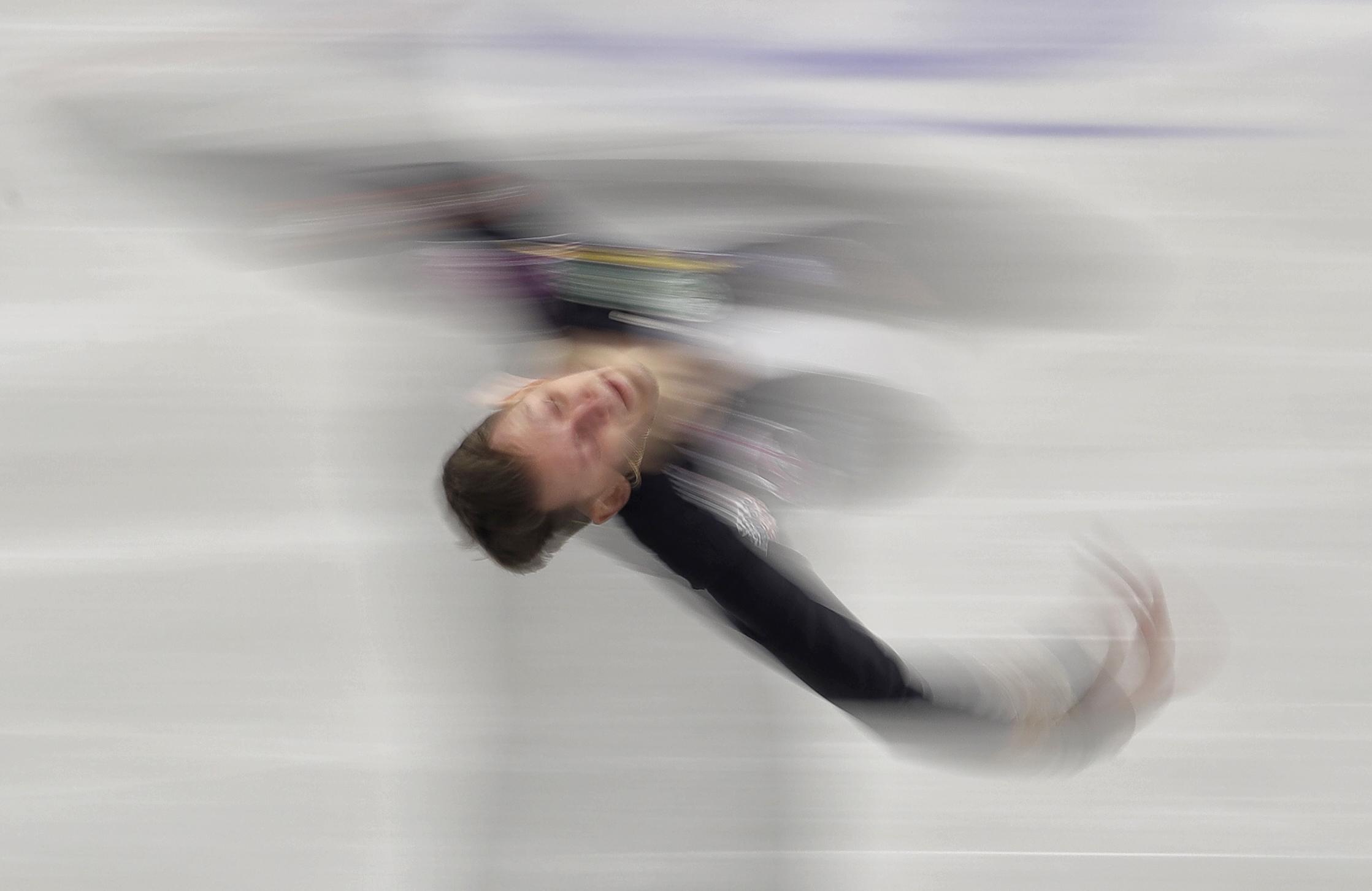 Russia's Maxim Kovtun skates his short program at the European Figure Skating Championships in Ostrava, Czech Republic, Friday, Jan. 27, 2017. (AP Photo/Petr David Josek)