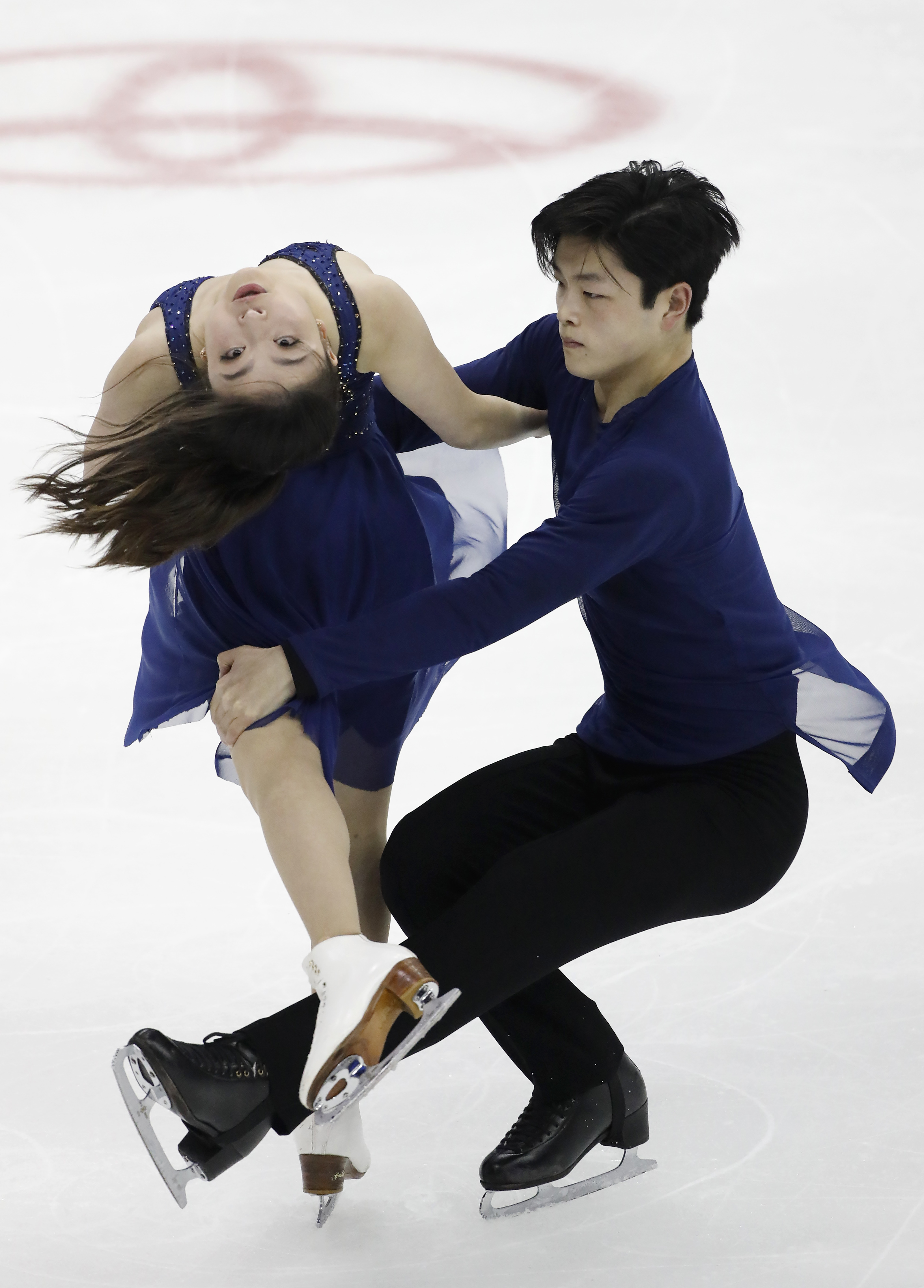 FILE - In this Jan. 21 2017, file photo, Maia and Alex Shibutani perform during the free dance competition at the U.S. Figure Skating Championships, in Kansas City, Mo. The U.S. is sending a contingent to the World Championships led by reigning silver med