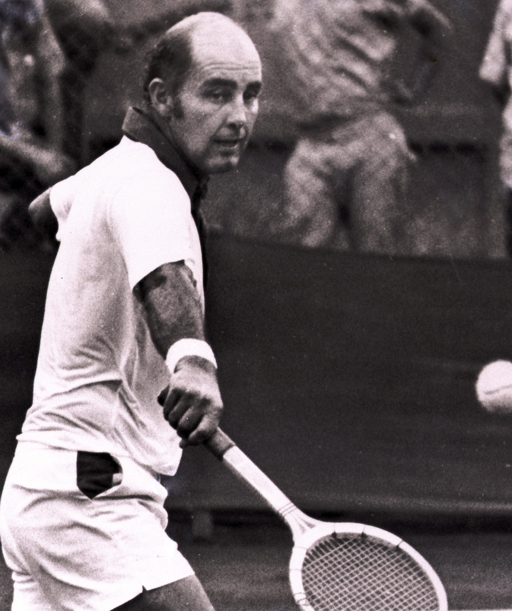 FILE - This 1973 file photo shows Bob Hewitt. The Rhode Island-based International Tennis Hall of Fame has hired a Boston attorney to investigate allegations that one-time doubles champion Hewitt sexually abused underage girls he coached. (AP Photo, File)