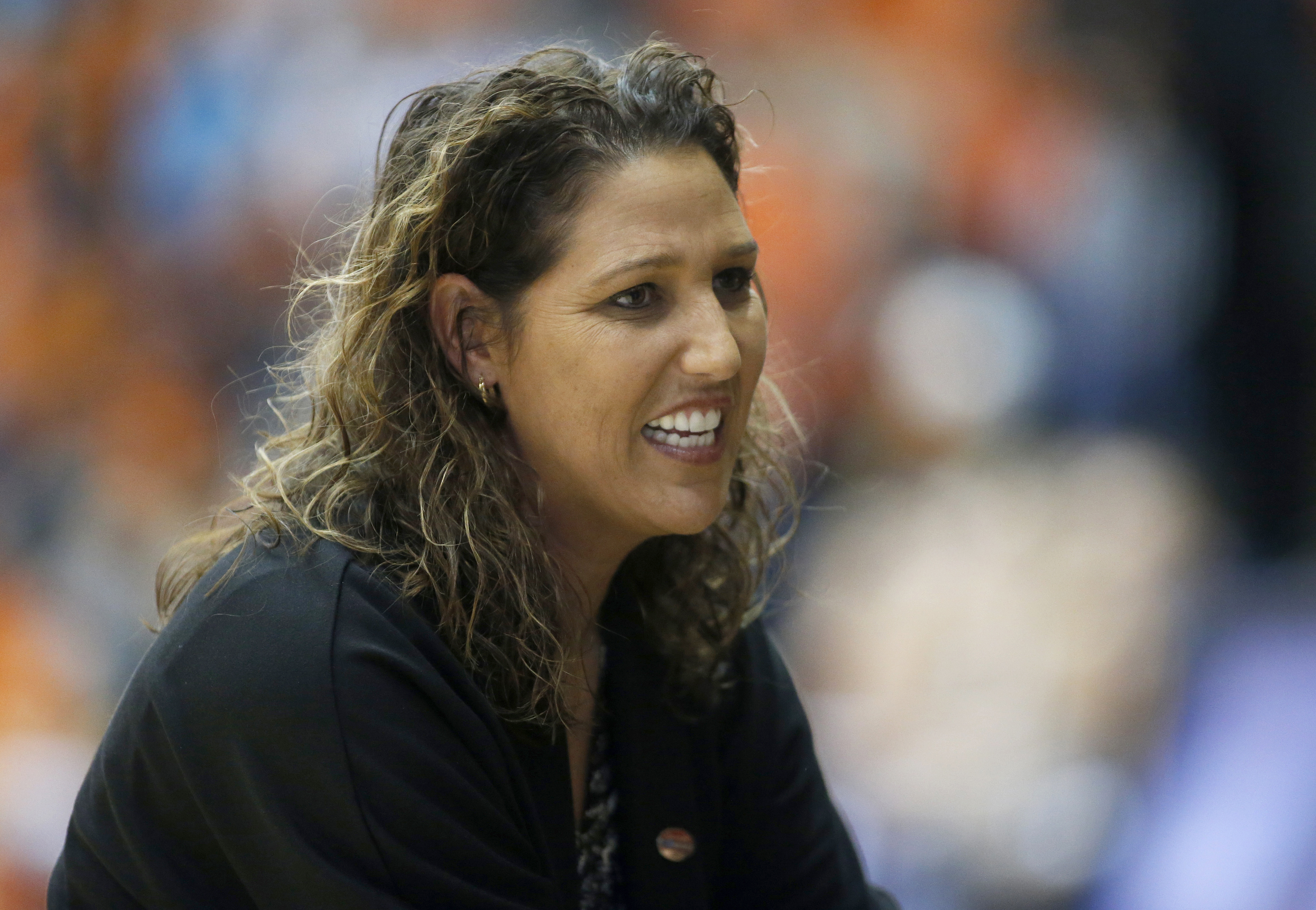 FILE - In this March 17, 2017, file photo, Long Beach State head coach Jody Wynn watches during a first-round game in the women's NCAA college basketball tournament, in Corvallis, Ore. Washington has hired Wynn as the women's basketball coach to replace M