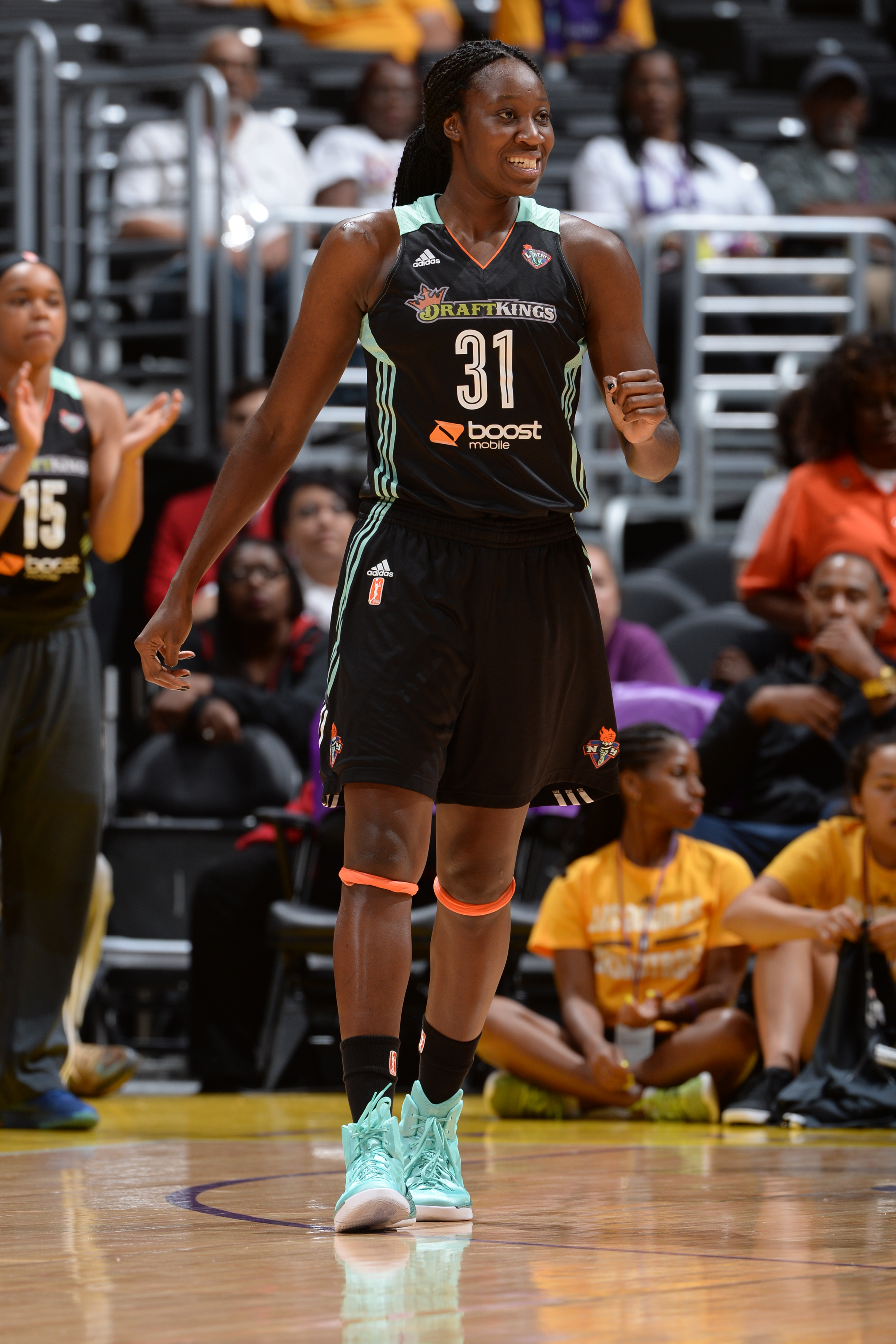LOS ANGELES, CA - JULY 22:  Tina Charles #31 of the New York Liberty during the game against the Los Angeles Sparks on July 22, 2015 at Staples Center in Los Angeles, California. (Photo by Andrew D. Bernstein/NBAE via Getty Images)