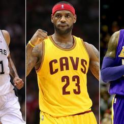 Tim Duncan; LeBron James; Kobe Bryant