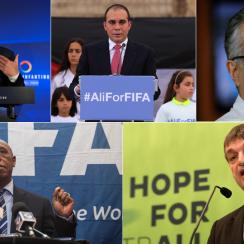 Gianni Infantino, Prince Ali, Sheikh Salman, Tokyo Sexwale and Jerome Champagne are vying for FIFA's presidency