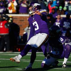 Blair Walsh misses the game-winning field goal in the Vikings-Seahawks wild-card game.
