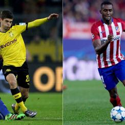 Borussia Dortmund's Christian Pulisic and China-bound Jackson Martinez