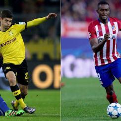 Borussia Dortmund's Christian Pulisic and China-bound Jackson Martinez