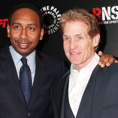 "Stephen A. Smith (left) and Skip Bayless represent the faces of ESPN's ""First Take,"" a daily show centered around debating sports topics."