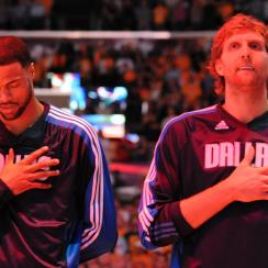 Tyson Chandler (left) and Dirk Nowitzki, who won a championship together in 2011, have been reunited in Dallas.