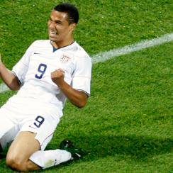 Charlie Davies, pictured above after scoring in the 2009 FIFA Confederations Cup, was a star on the rise until a life-altering car accident. He now plays for the New England Revolution.