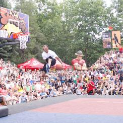 One of the highlights of Hoopfest is the annual dunk contest.