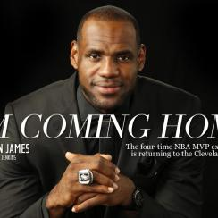 LeBron James announces his return to Cleveland Cavaliers