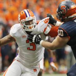 After returning for his senior season, Clemson defensive end Vic Beasley found himself No. 2 overall in SI.com's 2015 NFL Mock draft.