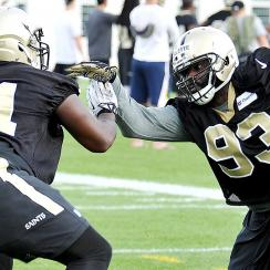 Junior Galette at New Orleans Saints camp