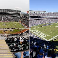 O.co Coliseum and Qualcomm Stadium