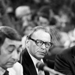 Howard Cosell, Frank Sinatra and Roone Arledge