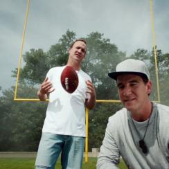 Peyton and Eli Manning are rapping about fantasy football
