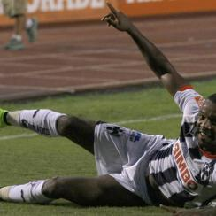 Monterrey's Dorlan Pabon celebrates during his hat trick against Cruz Azul on Saturday night.