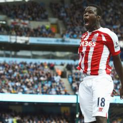 Mame Biram Diouf scored a fantastic solo effort to give Stoke City a surprising 1-0 win over Manchester City.