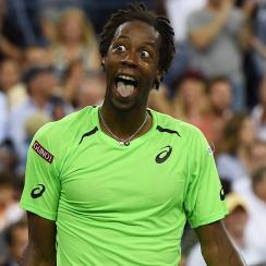 Gael Monfils, always entertaining, will have to come back from a crushing loss to Roger Federer in the U.S. Open quarterfinals.