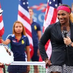 Serena Williams defeated Caroline Wozniacki 6-3, 6-3 for her 18th Grand Slam title.
