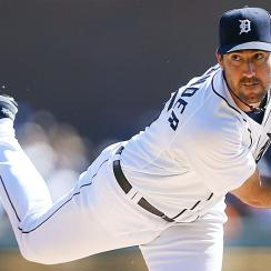 The Tigers' Justin Verlander was fantastic on Wednesday night, striking out six and walking none in eight innings of work.