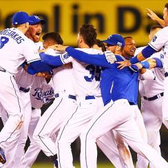 Royals celebrate AL WIld Card win