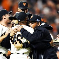 Giants celebrate NLDS win