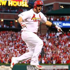 Matt Adams' three-run homer in the seventh inning knocked Clayton Kershaw from the game and the Dodgers from the NLDS.