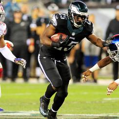 LeSean McCoy rushed for his first 100-plus yard game of the season against the New York Giants on Sunday Night Football.