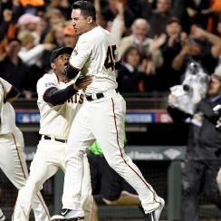 Travis Ishikawa hit a three-run walk-off home run to send the Giants to the World Series.
