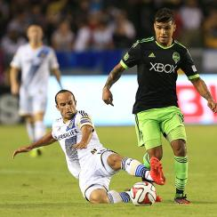 The LA Galaxy and Seattle Sounders tied in their second-to-last regular season meeting.