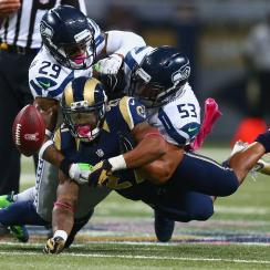 Seattle Seahawks safety Earl Thomas referees
