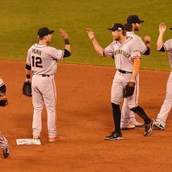 Giants celebrate World Series Game 1 win