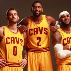 Kevin Love; Kyrie Irving; LeBron James